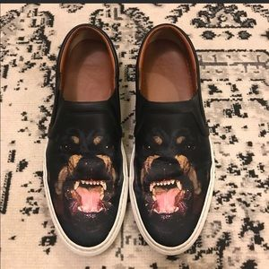 Women's givenchy Rottweiler slide ons